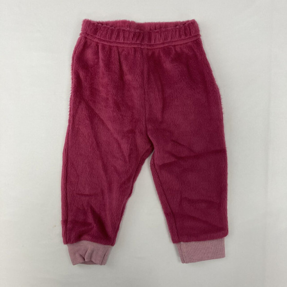 Velour Pink Joggers 3-6 mth