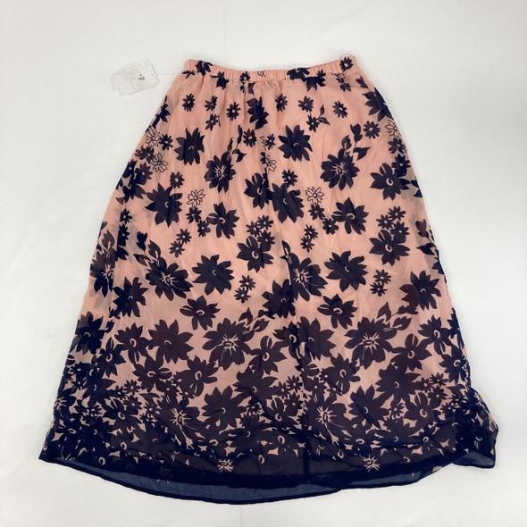 Pink Floral Skirt 12 yr