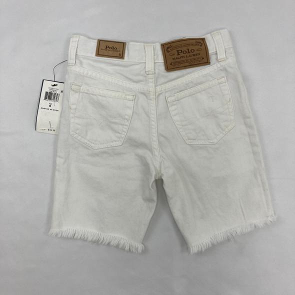 White Denim Shorts 6