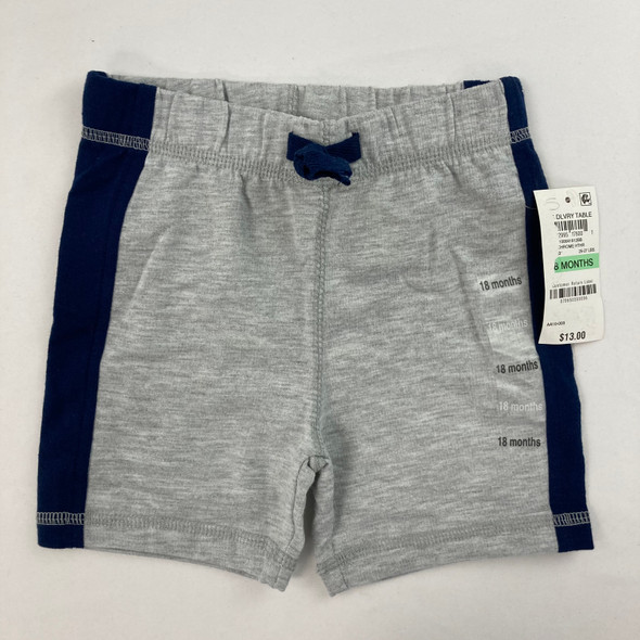 Color-blocked Chrome Heather Shorts 18 mth