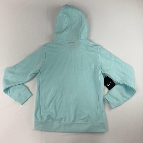 Teal Fleece Logo Hoodie Large