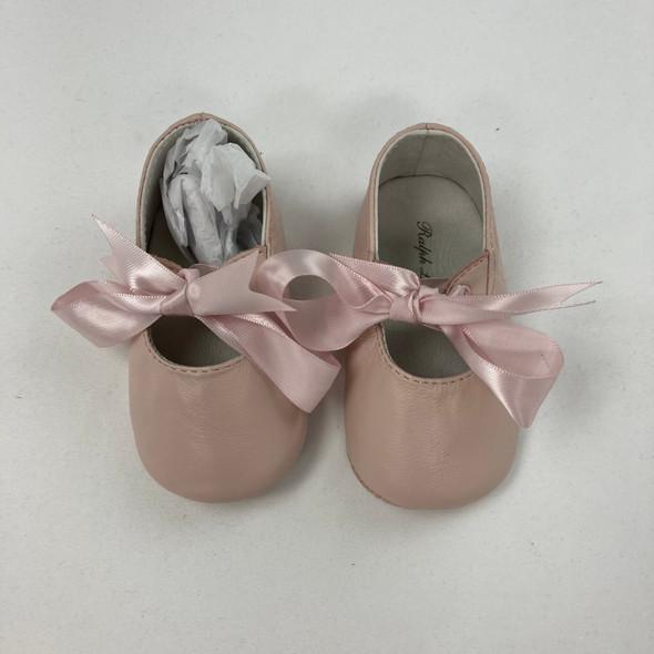 Mauve Bow Shoes 6-9 mth