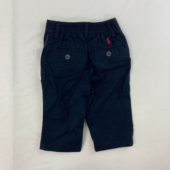 Embroidered Navy Dress Pants 6 mth