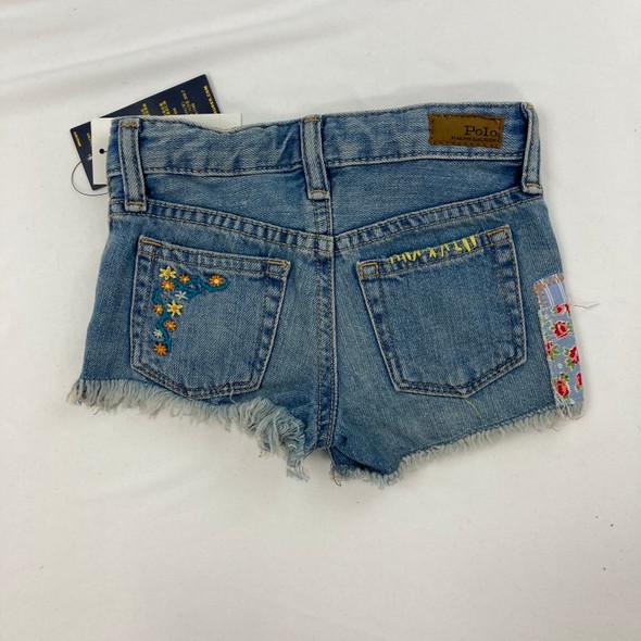 Patched Denim Shorts 3/3T