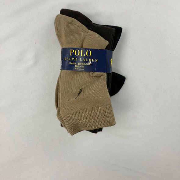 Super Soft Tan Socks 3-pk 9-11