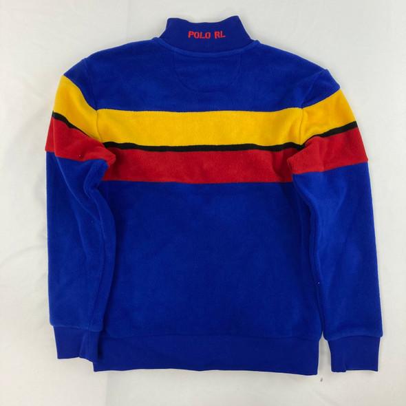 Striped Fleece Zip-up Medium