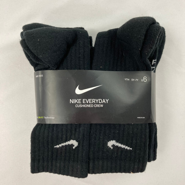 6-pair Performance Cushion Crew Socks 5Y-7Y
