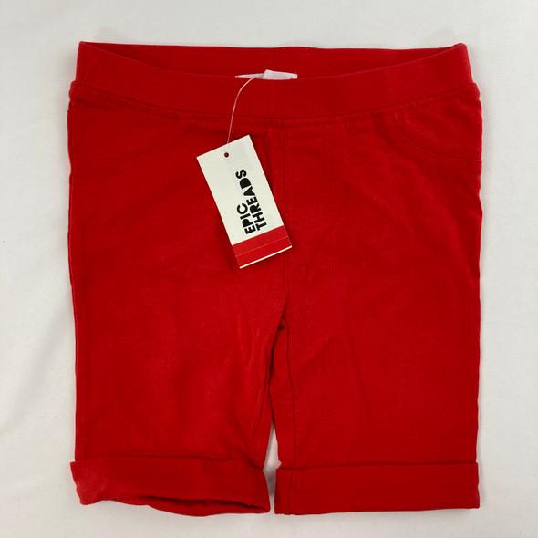 Solid Tomato Bermuda Shorts 5 yr