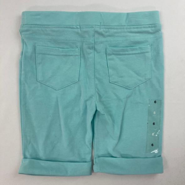 Solid Sky Blue Bermuda Shorts 6 yr