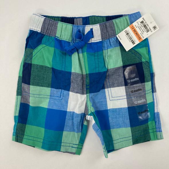 Carnival Plaid Shorts 12 mth