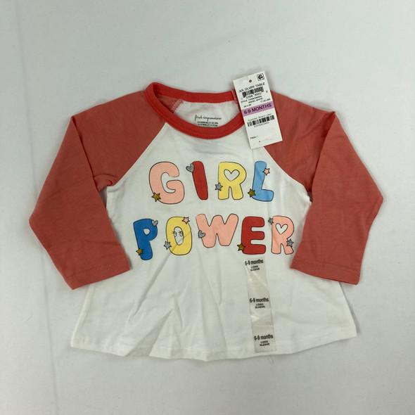 Girl Power Top 6-9 mth