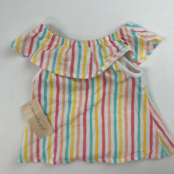 Stripe Flounce Tee 6-9 mth