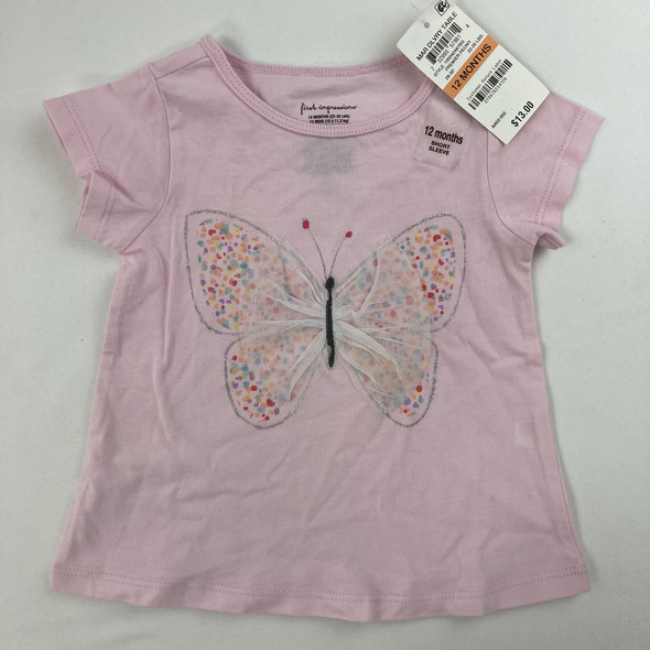 Tulle Butterfly Tee 12 mth