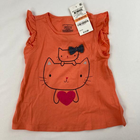Heart Kitty Tee 12 mth