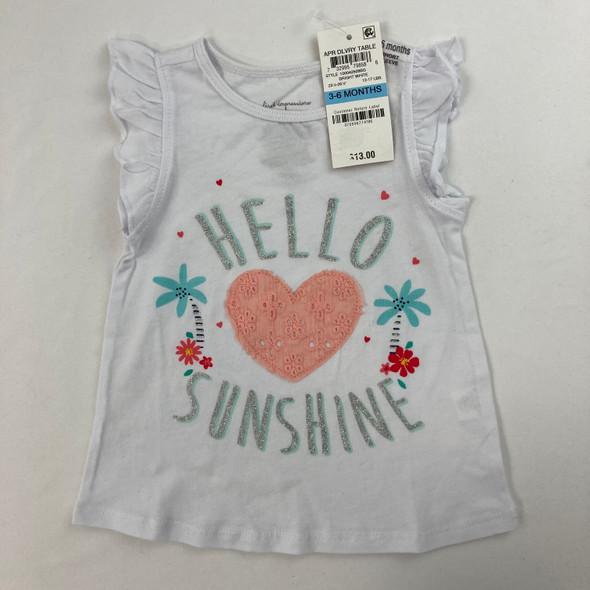 Hello Sunshine Tee 3-6 mth