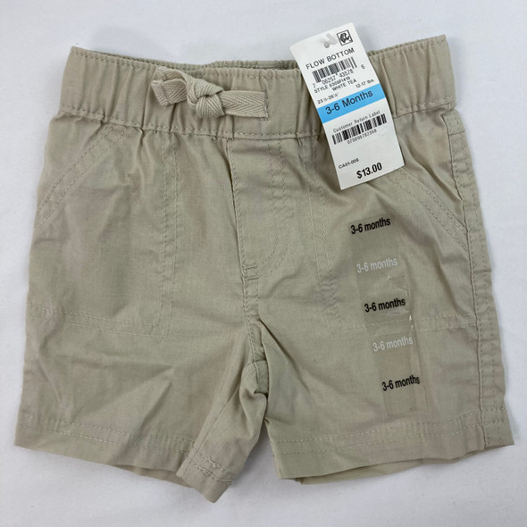 Woven Solid Shorts 3-6 mth