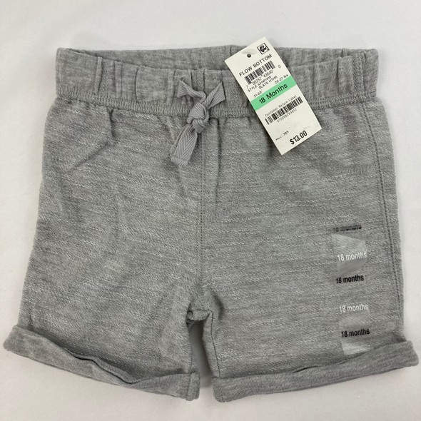 Solid Slate Heather Shorts 18 mth