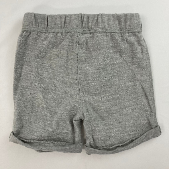 Solid Slate Heather Shorts 12 mth