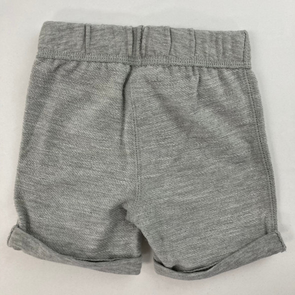 Solid Slate Heather Shorts 3-6 mth