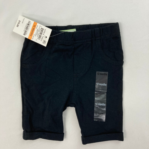 Deep Black Bermuda Shorts 12 mth