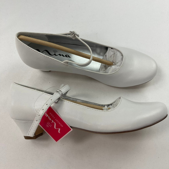 White Smooth Seeley Heels 3.5 M