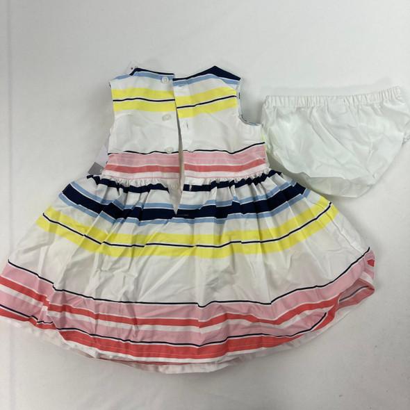 Stripe Fluffy Dress 9 mth