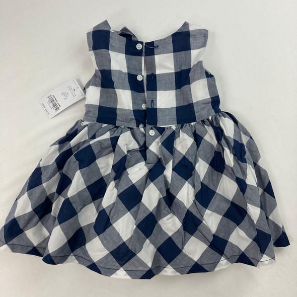 Navy Plaid Dress 9 mth