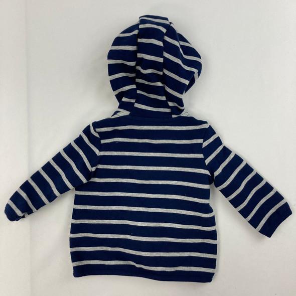 Navy Stripe Fleece Sweatshirt 6 mth