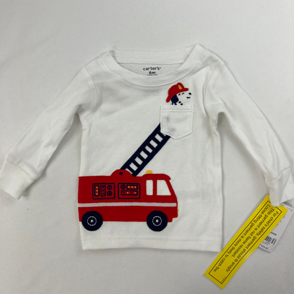 Fire Truck Pajama Top 6 mth
