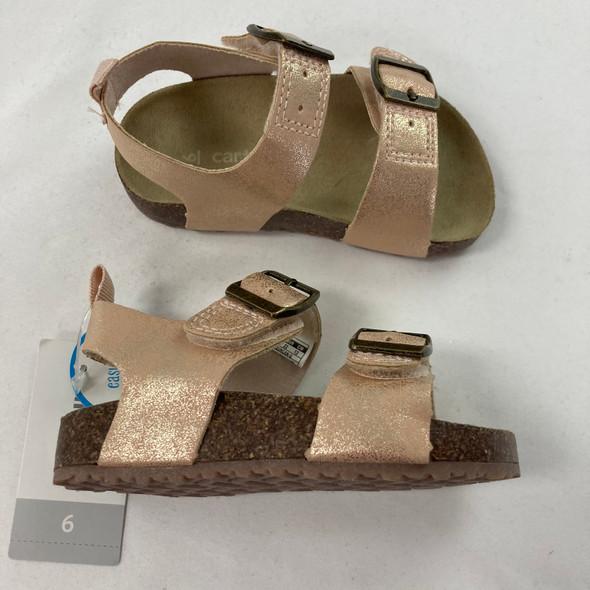 Duncan Rose Gold Sandals 6 Toddler