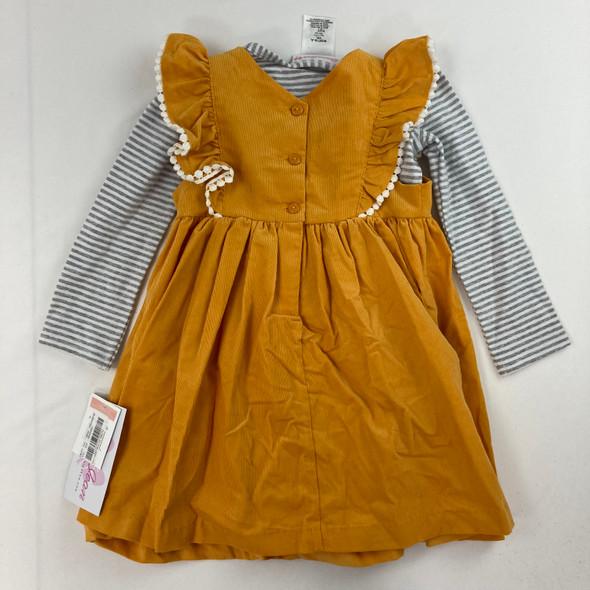 Floral Stripe 2-pc Dress 2T