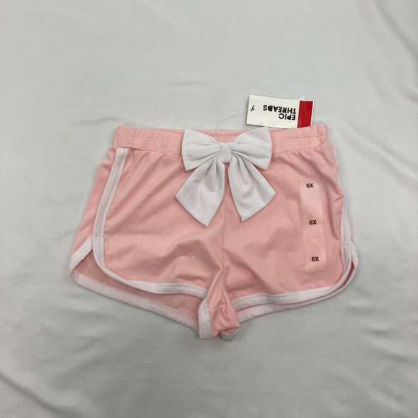 Solid Cotton Bow Shorts 6X