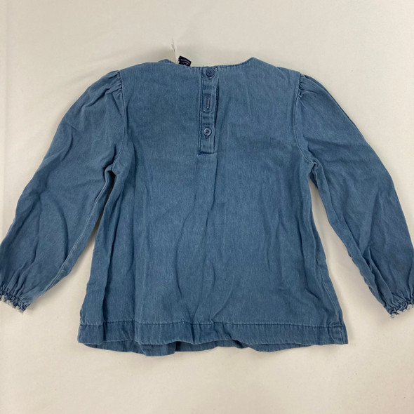 Embroidered Denim Blouse 3T