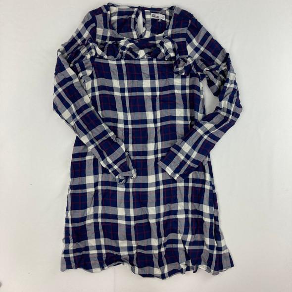 Plaid Ruffle Dress Large