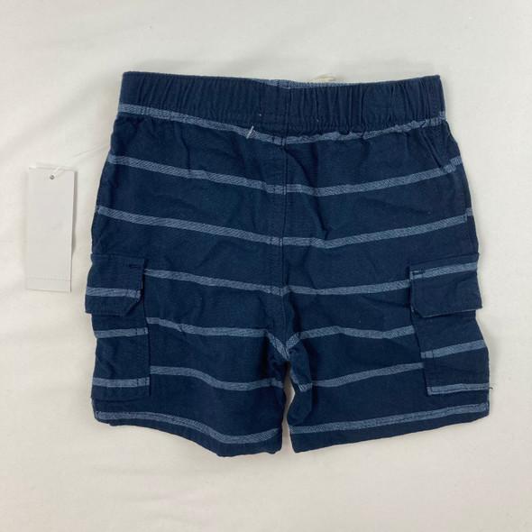 Navy Stripe Pocket Shorts 12 mth