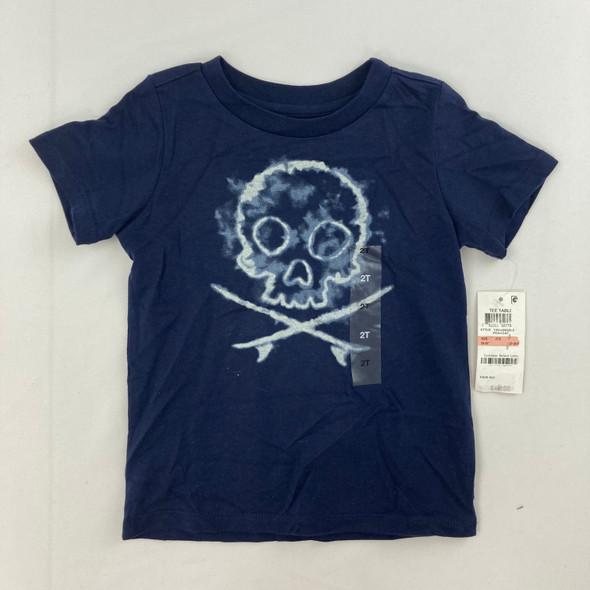 Navy Skull Top 2T