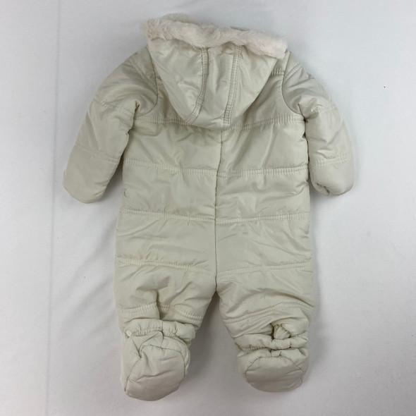 Cream Bow Snowsuit 0-3 mth