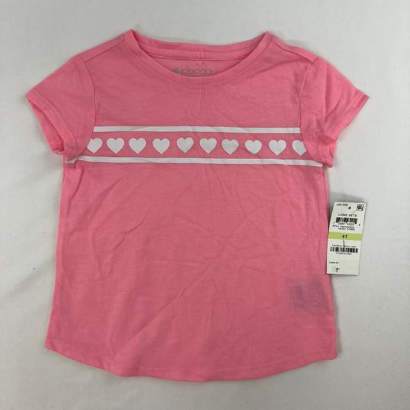 Heart Stripe Top 4T