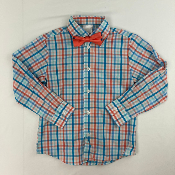 Summer Plaid Button-up 6 yr
