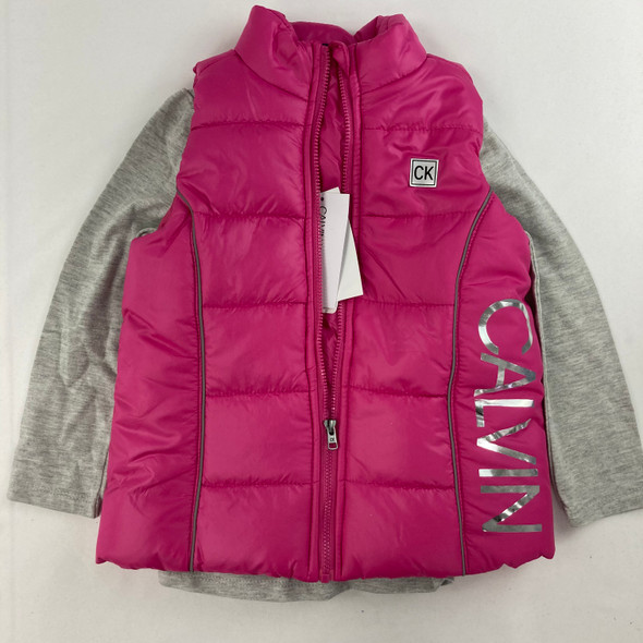 2-pc Fuchsia Vest Set 4T