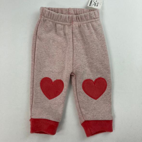 Fuzzy Heart Knee Jogger 3-6 mth