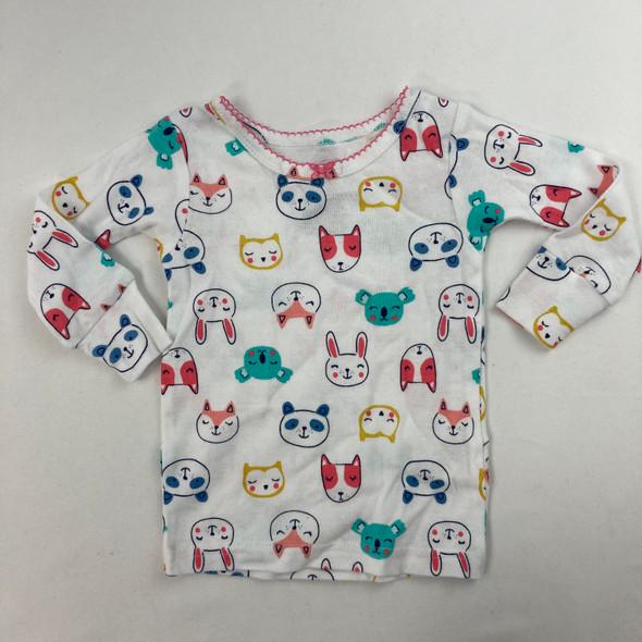 Animal Pajama Top 6 mth