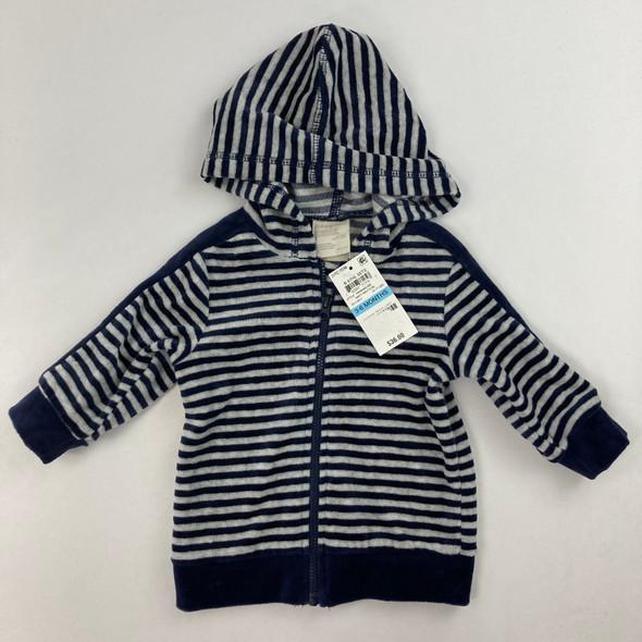 Navy Striped Sweatshirt 3-6 mth