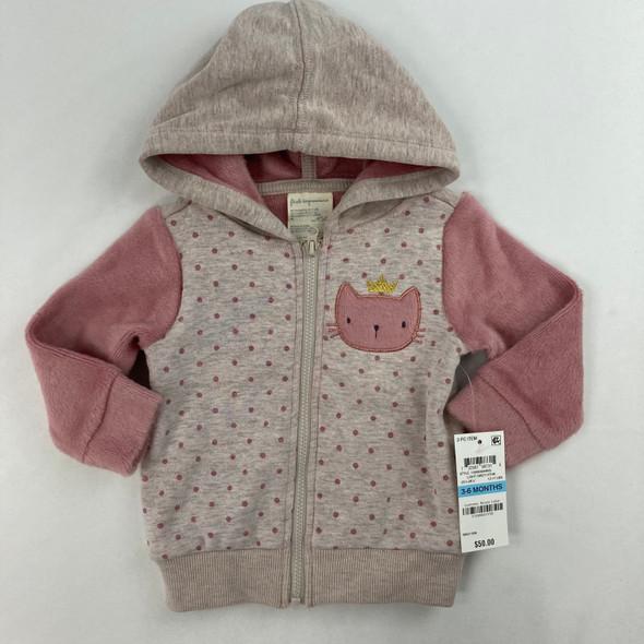Kitty Minky Sweatshirt 3-6 mth