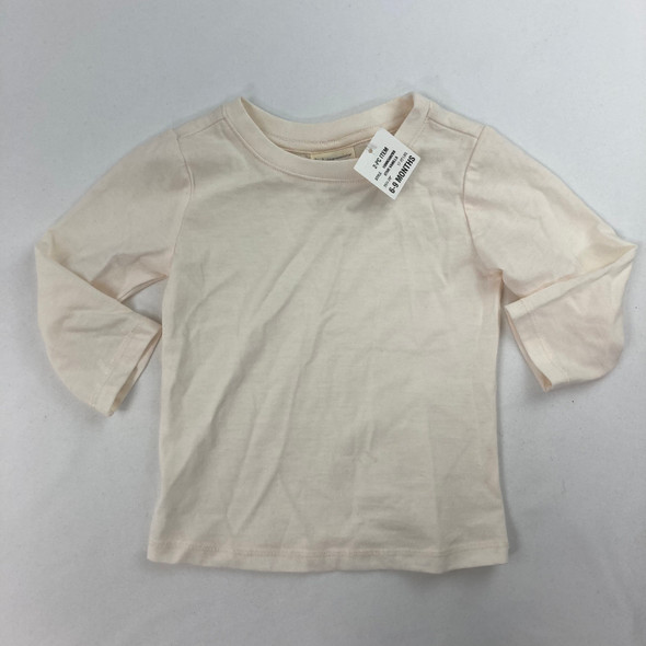 Ivory Solid LS Tee 6-9 mth