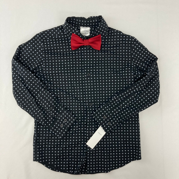 Mini Star Button-up with Bowtie Top 6 yr