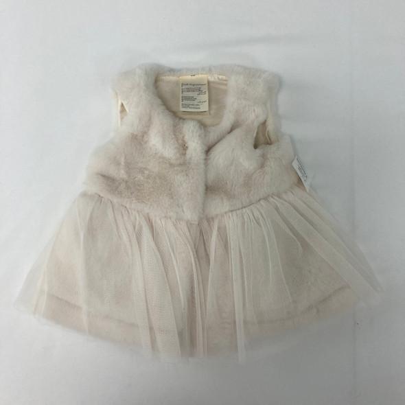 Fuzzy Tulle Vest 0-3 mth