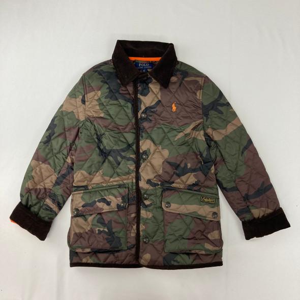 Camouflage Corduroy Trim Jacket Small