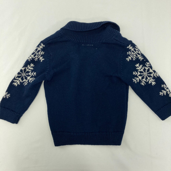Snowflake Button Up Sweater 3-6 mth
