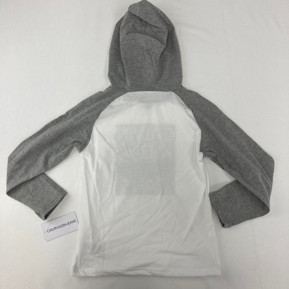 CK Square Logo Hooded Top 6 yr
